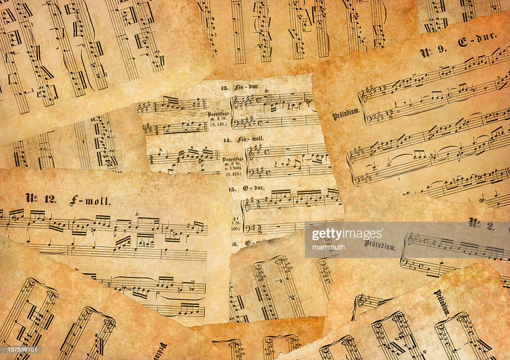 Lot Of Old Sheet Music Stock Photo - Getty Images