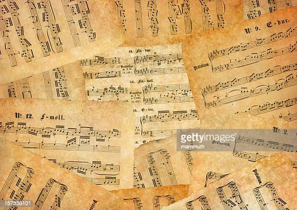 lot of old sheet music