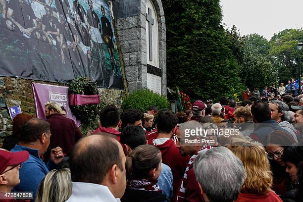 A lot of people at the commemoration of the 66th anniversary of the tragedy of Grande Torino at the Basilica of Superga The commemoration of the 66th...
