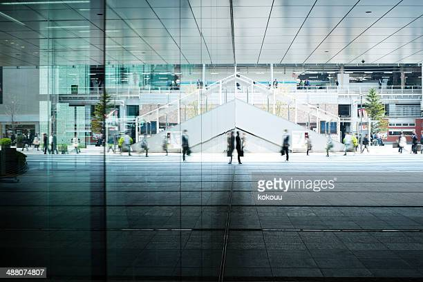 lot of people come and go - office block exterior stock pictures, royalty-free photos & images