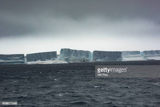 A lot of tabular icebergs at the Antarctic sound very close of the Weddell sea