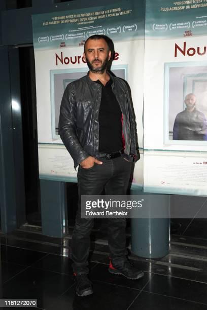 "Lotfi Abdelli attends the ""Noure Reve"" Premiere At Institut Du Monde Arabe on October 15, 2019 in Paris, France."