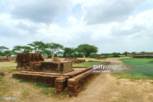 lothal - 3rd century bc, harappan civilization, archaeological site, gujarat, india - ancient civilisation stock pictures, royalty-free photos & images