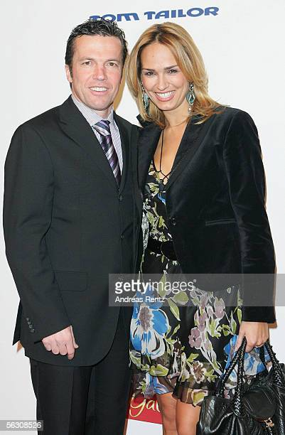 Lothar and Marijana Matthaeus arrive at the Tribute to Bambi Charity Gala at the Postkantine November 30 2005 in Munich Germany