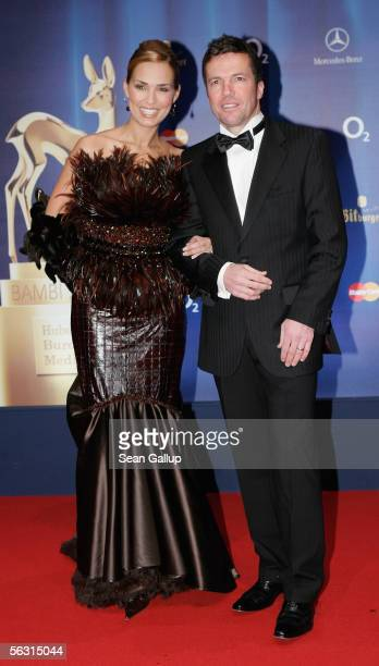 Lothar and Marijana Matthaeus arrive for the 57th annual Bambi Awards at the International Congress Center on December 01 2005 in Munich Germany