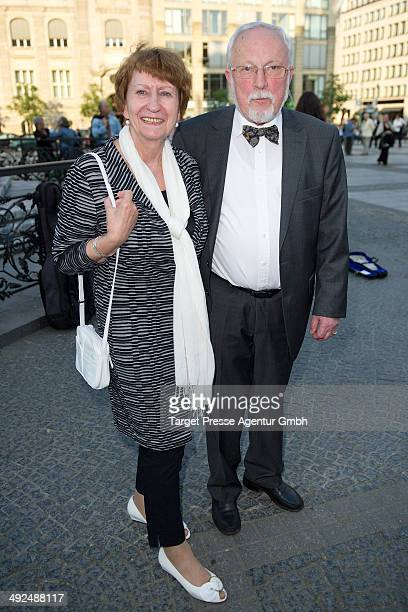 Lothar de Maiziere and his wife Martina attend the 70th birthday celebration for Justus Frantz at Konzerthaus Am Gendarmenmarkt on May 20, 2014 in...
