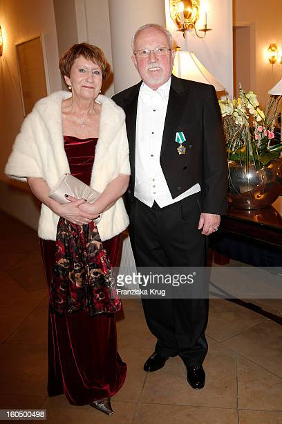 Lothar de Maiziere and Martina de Maiziere attend the 'Semper Opera Ball 2013' on February 1, 2013 in Dresden, Germany.