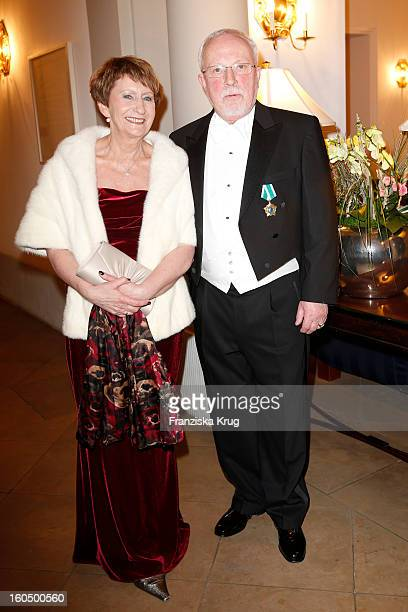 Lothar de Maiziere and Martina de Maiziere attend the 'Semper Opera Ball 2013' on February 1 2013 in Dresden Germany