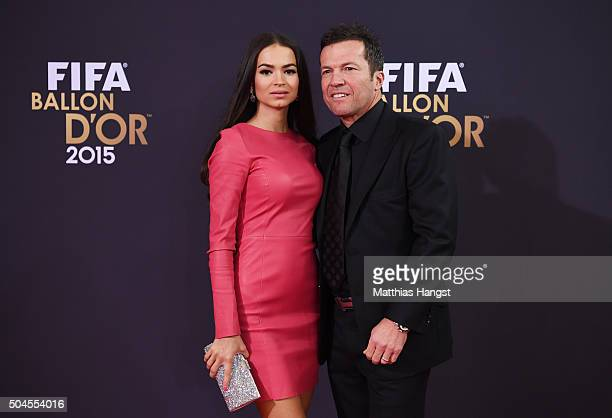 Lothar Mattaeus and Anastasia Klimko attend the FIFA Ballon d'Or Gala 2015 at the Kongresshaus on January 11 2016 in Zurich Switzerland