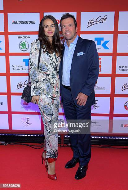 Lothar Matthaeus and Anastasia Klimko attend the Sport Bild Award at the Fischauktionshalle on August 29 2016 in Hamburg Germany