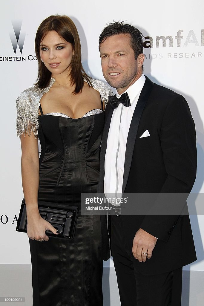 Lothar Matthaeus and guest arrive at amfAR's Cinema Against AIDS 2010 benefit gala at the Hotel du Cap on May 20, 2010 in Cannes, France.