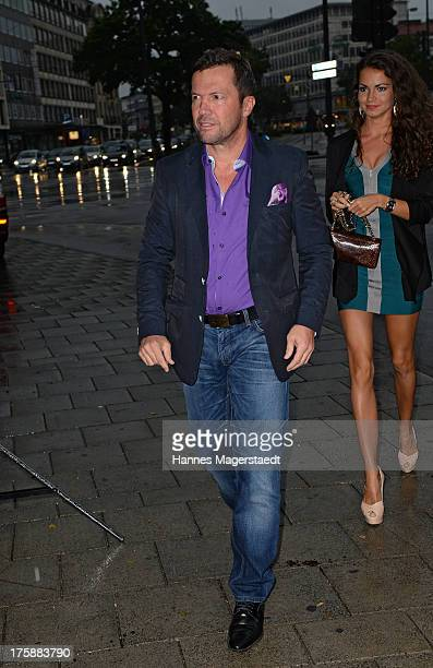 Lothar Matthaeus and his girlfriend Anastasia attend the Sky Bundesliga Season Opening Party at Heart on August 9 2013 in Munich Germany