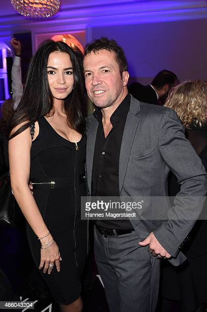 Lothar Matthaeus and his wife Anastasia attend the Schwarzreiter Tagesbar Opening In Munich at Hotel Vier Jahreszeiten on March 12 2015 in Munich...