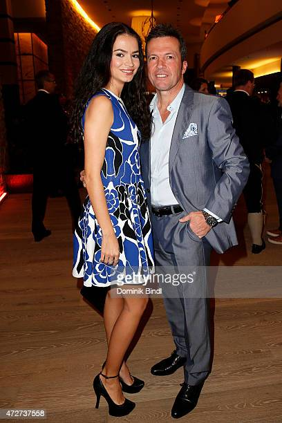 Lothar Matthaeus and his wife Anastasia during the Kempinski Hotel Berchtesgaden opening party on May 8 2015 in Berchtesgaden Germany
