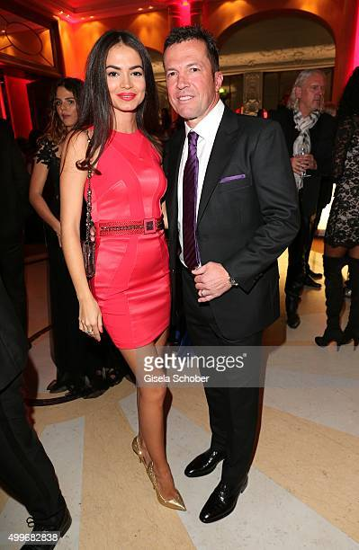 Lothar Matthaeus and his wife Anastasia Klimko attend the Audi Generation Award 2015 at Hotel Bayerischer Hof on December 2 2015 in Munich Germany