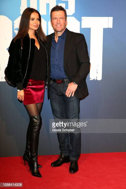 Lothar Matthaeus and his wife Anastasia Klimko during the world premiere of the Sky original series 'Das Boot' at Bavaria Studios on November 6 2018...