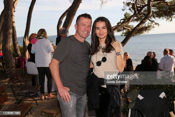 Lothar Matthaeus and his wife Anastasia Matthaeus during the welcome reception prior to the 30th anniversary celebration of the German World Cup win...