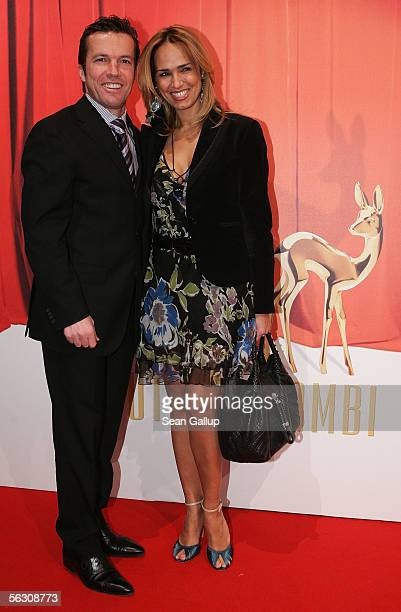 Lothar Matthaeus and his wife Marijana arrive for the Tribute to Bambi Charity Gala at the Postkantine on November 30 2005 in Munich Germany