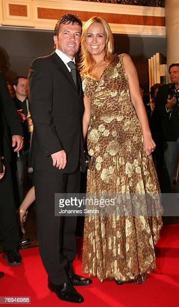 Lothar Matthaeus and his wife Marijana arrive for the United People Charity Night 2007 on September 21 2007 in Munich Germany