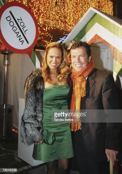Lothar Matthaeus and his wife Marijana Matthaeus arrive for the Baldessarini Night during the Baldessarini Snow Arena Polo World Cup at the hotel Zur...