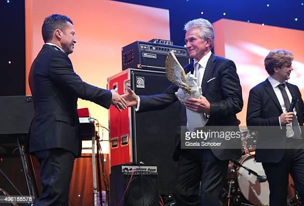 Lothar Matthaeus and Jupp Heynkes Meissen Pegasos Award during the German Sports Media Ball at Alte Oper on November 7 2015 in Frankfurt am Main...