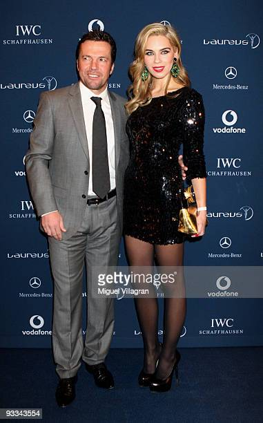 Lothar Matthaeus and Kristina Liliana attend the Laureus Media Award ceremony on November 23 2009 in Kitzbuhel Austria