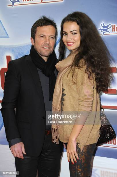 Lothar Matthaeus and new girlfrend Anastasia attend the Holiday On Ice Show at Tempodrom on February 28 2013 in Berlin Germany