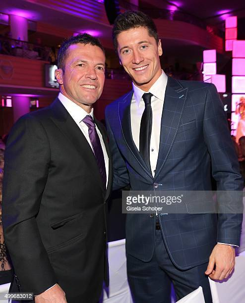 Lothar Matthaeus and Robert Lewandowski attend the Audi Generation Award 2015 at Hotel Bayerischer Hof on December 2 2015 in Munich Germany