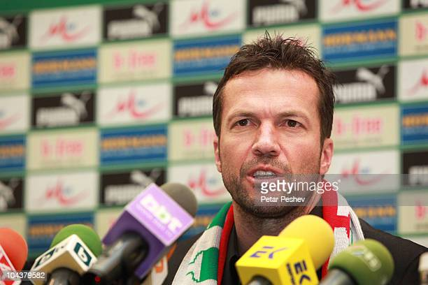 Lothar Matthaeus attends a press conference to present him as new head coach of Bulgaria National football team on September 23 2010 in Sofia Bulgaria