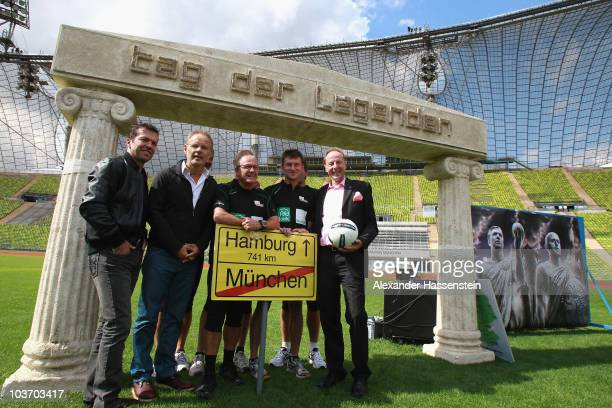 Lothar Matthaeus launches with TV presenter Reinhold Beckmann the Day of Legends at the Olympic Stadium on August 29 2010 in Munich Germany Five...