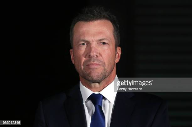 Lothar Matthaeus newly elected president of the Club of Former National Players prior to the friendly match between Germany and Brazil at...