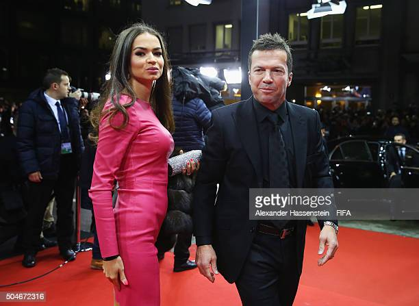 Lothar Matthaeus of Germany and Anastasia Klimko arrive for the FIFA Ballon d'Or Gala 2015 at the Kongresshaus on January 11 2016 in Zurich...