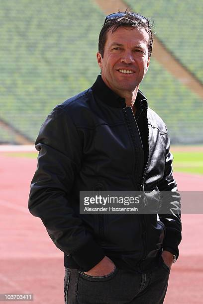 Lothar Matthaeus poses during the launch of the Day of Legends at the Olympic Stadium on August 29, 2010 in Munich, Germany. Five extreme sports...