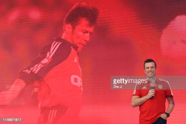 Lothar Matthaus attends the FC Bayern Fan Event on May 29, 2019 in Beijing, China.