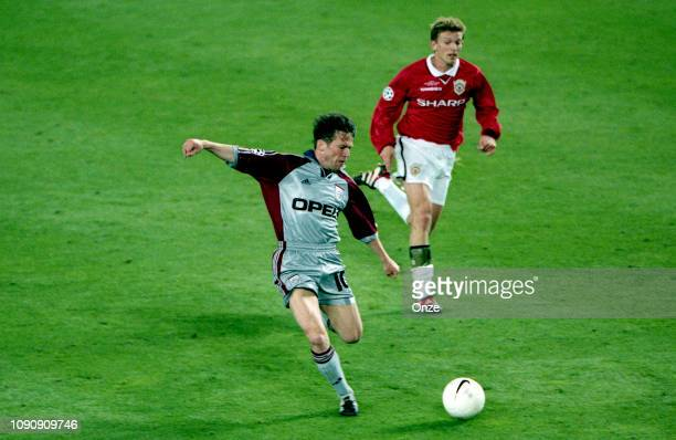 Lothar Matthaus of Bayern Munich during the UEFA Champions league final match between Manchester United and Bayern Munich on May 26 1999 in Camp Nou...