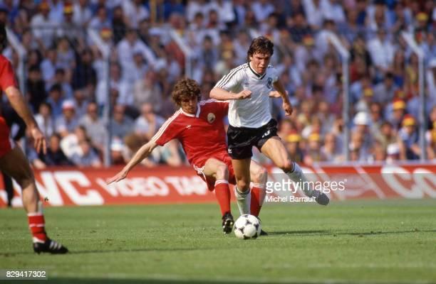 Lothar Matthaus of German Federal Republic during the European Championship match between German Federal Republic and Portugal at La Meinau...