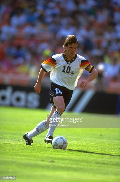 Lothar Matthaus of Germany in action during a US Cup match against Brazil in the USA The match ended in a 33 draw Mandatory Credit David...