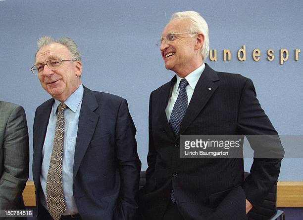Lothar SPAETH chairman of the board of management of Jenoptik and DR Edmund STOIBER prime minister of the Free State Bavaria and chairman of the CSU
