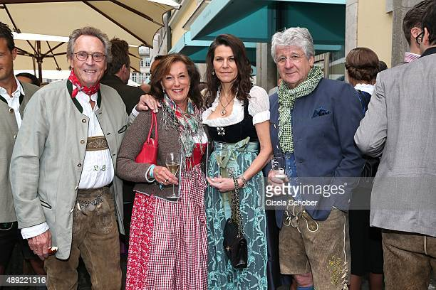 Lothar Strobach and his wife Constanze NeuhannLorenz and Marion Kiechle and her husband Marcel Reif during the 'Fruehstueck bei Tiffany' at Tiffany...