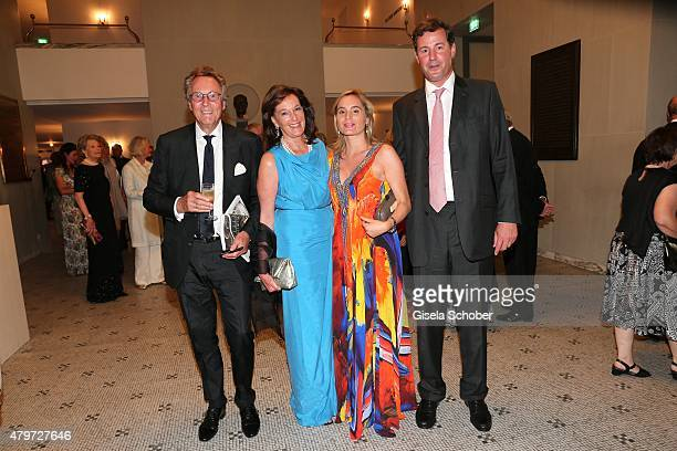 Lothar Strobach and his wife Constanze NeuhannLorenz daughter Princess Sarah von Isenburg and her husband Prince Alexander von Isenburg during the...