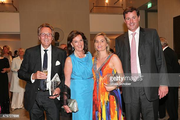 Lothar Strobach and his wife Constanze Neuhann-Lorenz, daughter Princess Sarah von Isenburg and her husband Prince Alexander von Isenburg during the...
