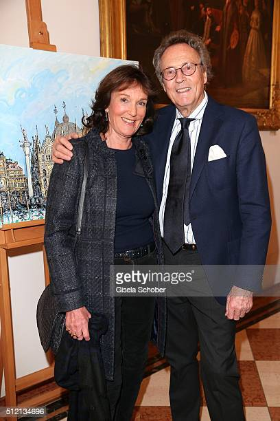 Lothar Strobach and his wife Dr Constanze NeuhannLorenz during the Mauro Bergonzoli 'Jakob in Venedig' exhibition opening at Fuerst Fugger Privatbank...