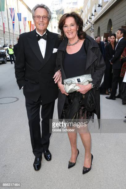Lothar Strobach and his wife Dr Constanze NeuhannLorenz during the opening of the Easter Festival 2017 'Walkuere' opera premiere on April 8 2017 in...