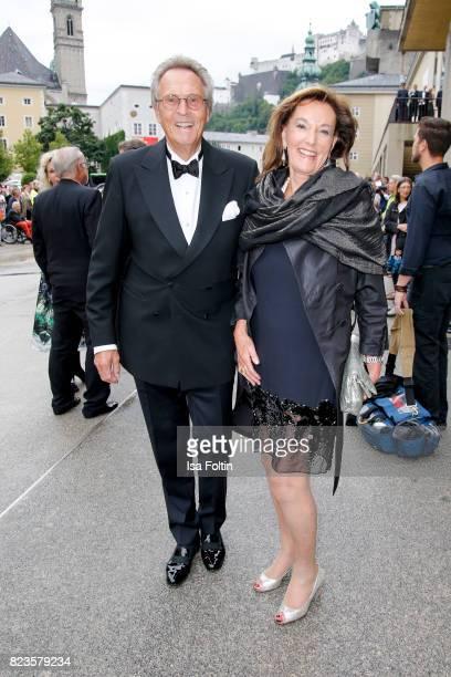 Lothar Strohbach and Constanze NeuhannLorenz attend the 'La Clemenzia di Tito' premiere during the Salzburg Festival 2017 on July 27 2017 in Salzburg...