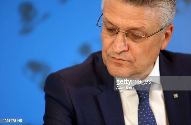 Lothar Wieler, president of the Robert Koch Institute , a public research body responsible for disease control, speaks to the media to give an update...