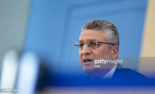 Lothar Wieler, President of the Robert Koch Institute speaks to the media over the course of the novel coronavirus pandemic during Germany's holiday...