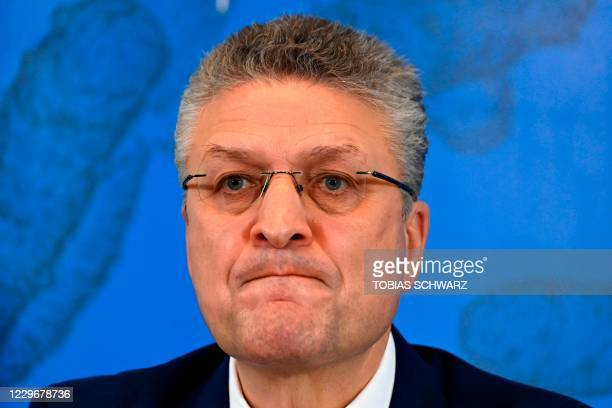Lothar Wieler, the head of Germany's disease control agency Robert-Koch-Institute , attends a news conference to comment on the current situation...