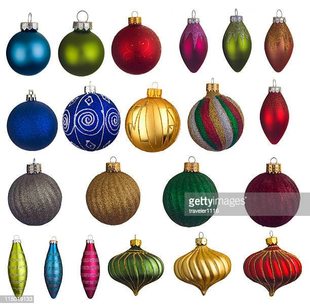 lots of christmas ornaments - oval shaped objects stock pictures, royalty-free photos & images