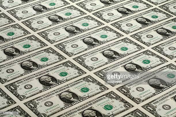 lots of one dollar bills