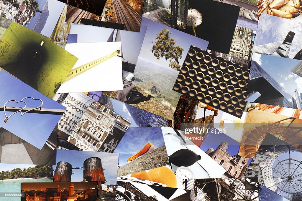 Lots of photograph collections in one image : Stock Photo